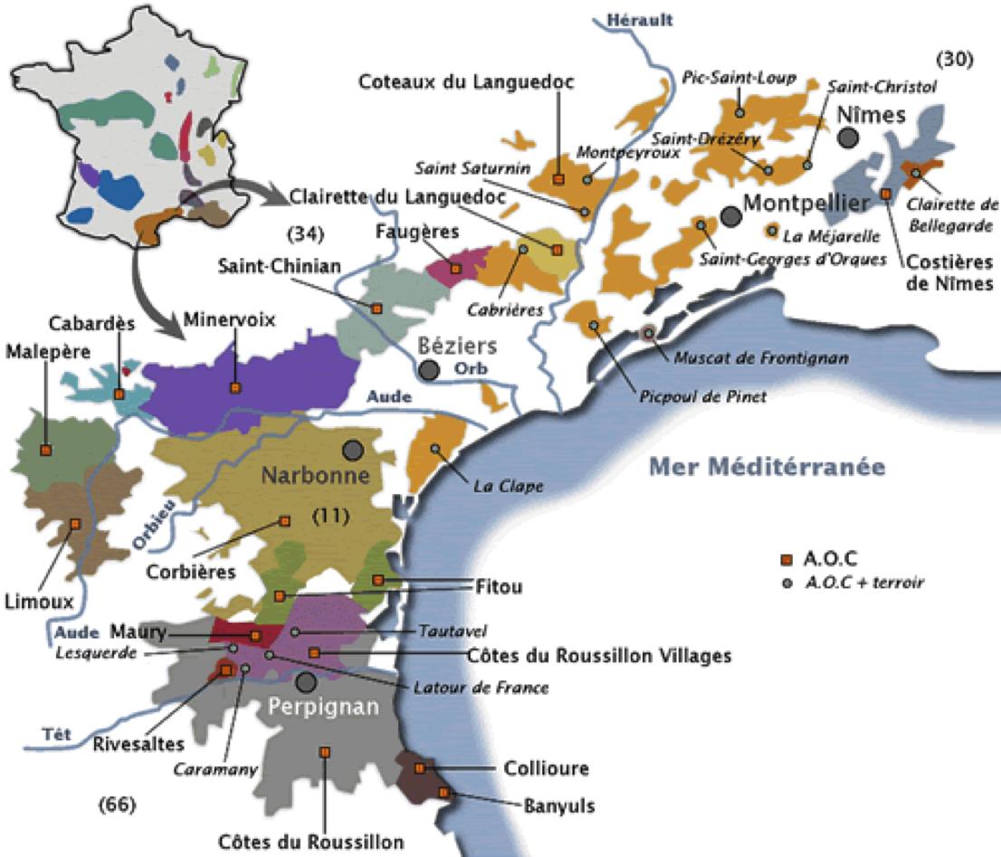 Les vins rouges de la vall e du rh ne et du languedoc roussillon amicale nologique chartraine - Office du tourisme limoux ...